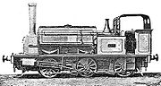 "Farmer's Friend (or ""Pilling Pig""), a 1875 Hudswell Clarke 0-6-0ST and the third locomotive on the line"